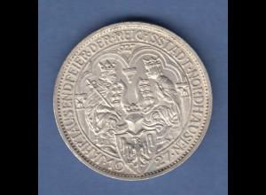 Deutsches Reich Silber-Gedenkmünze Nordhausen 3 Mark 1927 A vorzüglich-stgl.
