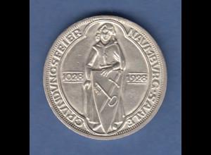 Deutsches Reich Silber-Gedenkmünze Naumburg 3 Mark 1928 A vorzüglich