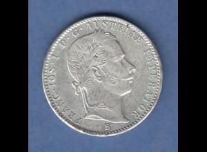 Österreich / Ungarn Franz Joseph Kursmünze 1/4 FL. 1860 vzgl.