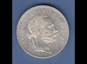 Österreich / Ungarn Silbermünze Franz Joseph 1 Gulden 1869 K.B. vzgl.