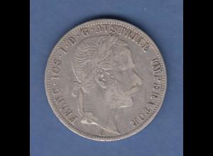 Österreich / Ungarn Silbermünze Franz Joseph 1 Gulden 1871 A