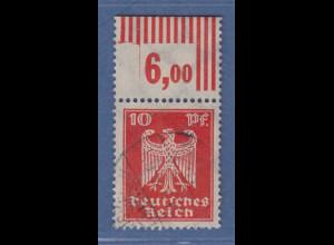 Dt. Reich Reichsadler 10 Pfg. Mi.-Nr. 357 mit interessanter Oberrand-Anomalie