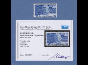 Bundesrepublik 1949 Stephan UPU mit PLF Mi.-Nr. 116 I Strich an der 0 ** BPP-gpr