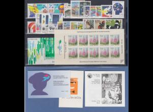 Finnland / Suomi Briefmarken-Jahrgang 1992 komplett **, dabei auch MH