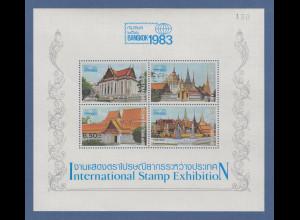 Thailand 1982 Int. Briefmarkenausstellung BANGKOK 1983 Mi.-Nr. Block 11 ** / MNH