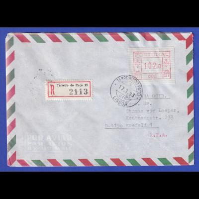 Portugal R-Brief mit OA-ATM 002 und VS-O TERREIRO DO PACO 17.1.83