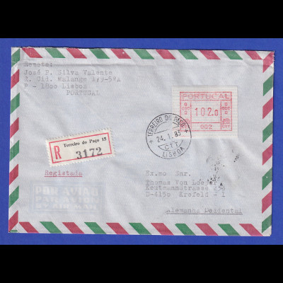 Portugal R-Brief mit OA-ATM 002 und VS-O TERREIRO DO PACO 24.1.83