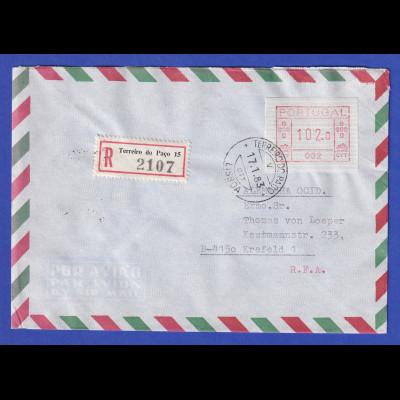 Portugal Express-Brief mit OA-ATM 002 und VS-O TERREIRO DO PACO 17.1.83