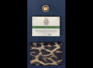 Goldmünze Republik Guinea 1000 Fr. Robert Kennedy / John F. Kennedy 4g Au900
