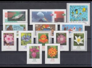 Bundesrepublik alle selbstklebenden Briefmarken des Jahrgangs 2019 komplett **