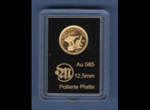Goldmedaille 0,59g Au 585 300 Jahre Schulpflicht, 2017