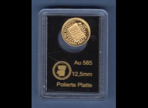 Goldmedaille 0,59g Au 585 25 Jahre Vertrag von Maastricht, 2017