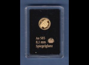Goldmedaille 0,29g Au 585 Dresden Zwinger, 2016
