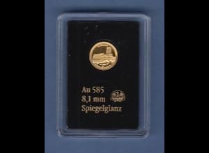 Goldmedaille 0,29g Au 585 Wartburg bei Eisenach, 2018