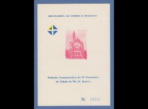 Brasilien 1965 Folhinha Filatélica 400 Jahre Rio de Janeiro Igreja Sao Sebastiao