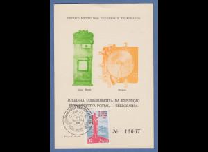 Brasilien 1965 Folhinha Filatélica Post- und Telegrafieaustellung mit Marke O