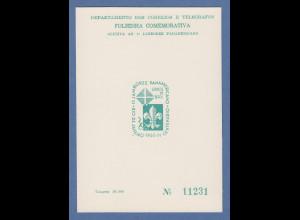 Brasilien 1965 Folhinha Filatélica Pfadfinder / Jamborée / Escotismo ungest.