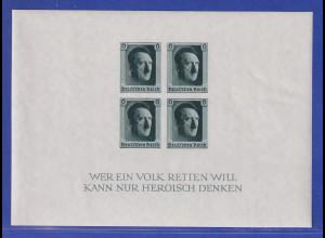 Deutsches Reich 1937 48. Geburtstag von Adolf Hitler Mi.-Nr. Block 8 **