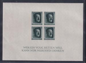 Deutsches Reich 1937 48. Geburtstag Adolf Hitlers Mi.-Nr. Block 8 **