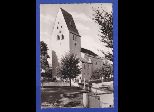 AK Bayern München Deisenhofen Oberhaching Pfarrkirche sw 1960er Jahre