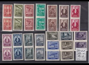 Türkei 1953 Freimarken geschnitten Mi.-Nr. 1317-1322 B kpl. senkr. Paare **