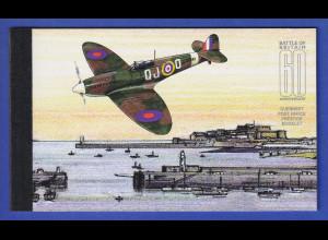 Guernsey 2000 60 Jahre Luftschlacht um England Markenheftchen Mi.-Nr. MH 44 **