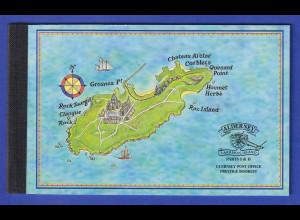 Guernsey-Alderney 1997 Historische Entwicklung Markenheftchen Mi.-Nr. MH 6 **