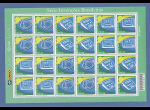 Brasilien 2004 Erfindung Mi-Nr 3376-78 kpl. Bogen RHM C-2581-2583 folha