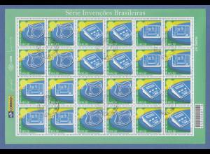 Brasilien 2004 Erfindungen Mi-Nr 3376-78 kpl. Bogen RHM C-2581-2583 folha