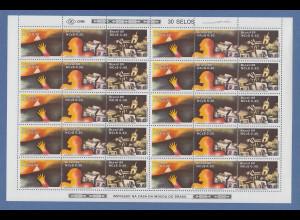 Brasilien 1989 Unabhängigkeit Mi-Nr 2295-97 kpl. Bogen RHM C-1627-1629 folha