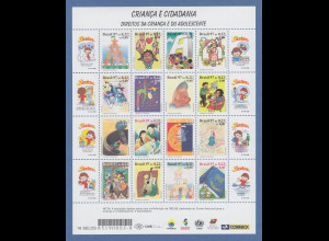Brasilien 1997 Kinder-Rechte Mi-Nr 2778-93 kpl. Bogen / Brasil RHM C-2051-2066