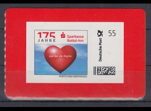175 Jahre Sparkasse Rottal-Inn MARKE INDIVIDUELL 55 Cent postfrisch **