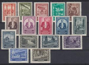 Türkei 1953 Freimarken Mi.-Nr. 1317-1322 A kpl. Satz **