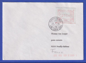 Portugal Frama-ATM Nr. 002 Wert 052,5 auf Brief nach F vom 21.1.86