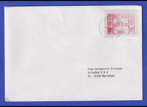 Portugal Frama-ATM Nr. 002 Wert 057,0 auf Brief nach SF vom Letzttag 10.7.1987