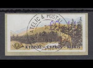Zypern Amiel-ATM Ausgabe 1999, Mi-Nr. 2, Auflage A Wert 0,11 mit ET-O 12.3.99