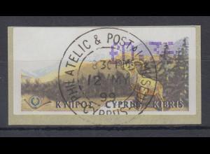 Zypern Amiel-ATM 1999, Mi-Nr. 2, Auflage B Wert 0,36 mit ET-O