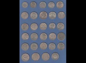 Polen / Polska Lot 29 Münzen, zumeist Gedenkmünzen, fast alle verschieden !