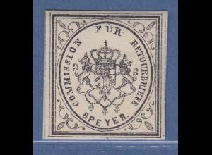 Bayern Retourmarken Ausgabe 1867 , SPEYER postfrisch **