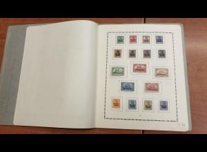 Memelgebiet kleine alte Sammlung, ungestempelt mit vielen kpl. Serien