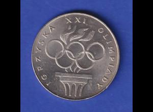 Polen 1976 Silbermünze 200 Zloty, Olympische Spiele