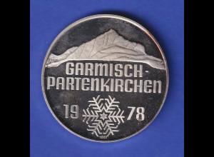 Alpine Ski-Weltmeisterschaften 1978 Garmisch-Partenkirchen Silbermedaille 25g