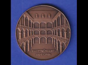 Bronzemedaille Hauptmünzamt München 1809-1986 Bayer. Amt für Denkmalpflege