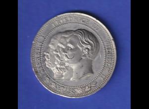 Zinn-Medaille zur Erinnerung an das Dreikaiserjahr 1888