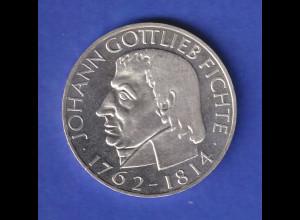 Bundesrepublik 5-DM Gedenkmünze Johann Gottlieb Fichte 1964 vorzügliche Qualit.