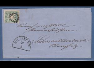 Bayern Wappen 1 Kr. Mi.-Nr. 14b mit GMR 315 Miltenberg a. Brief n. Schnaitenbach