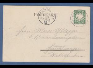 Bayern Privat-GA Kraft- und Arbeitsmaschinen-Ausstellung München 1898 , gelaufen