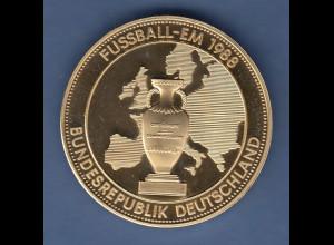 Messing-Medaille Fussball-Europameisterschaft 1988 Pokal / Deutschlandkarte
