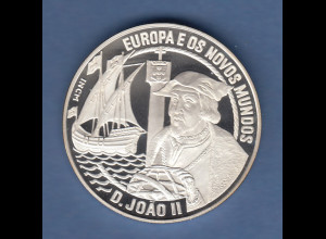 Portugal 1992, Silbermünze 25 Ecu Entdecker D. Joao Cabrilho , 28g Ag925