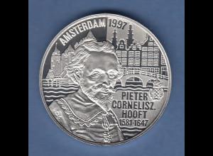 Niederlande 1997, Silbermünze 50 Euro Pieter Cornelisz Hooft, 25g Ag925